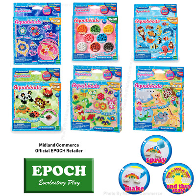 Aquabeads Refill Sets - Solid, Jewel, Zoo, Charm, Animal, Sea Life, Flower - NEW