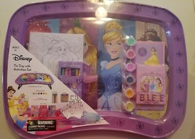 Disney Princess Tin Tray with Activitues Set Girls 4 yrs+ New 2017