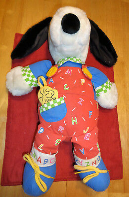 Snoopy Doll Learning For Kids Abcs Colors Applause Peanuts Charlie Brown