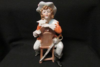 Vintage Porcelain Colonial Boy Half Doll Related