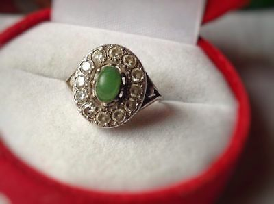 Vintage Ring USSR Beautiful with STONES Sterling Silver 925 Size 8