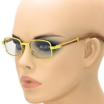 62956c2472b Fashion Vintage Wood Buffs Designer Eyeglasses Oval Frame Clear Lens Glasses  HOT