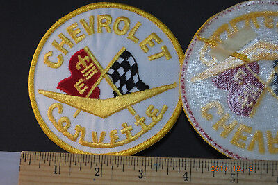 """Chevrolet Chevy Corvette Embroidered Iron-on Patch 4"""""""