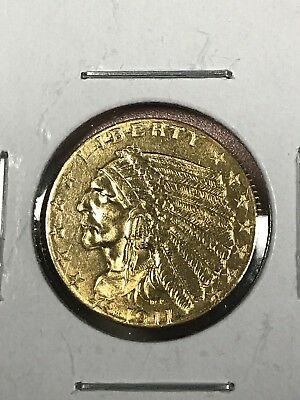 1911 $2.50 Gold Indian Head Quarter Eagle, Free Shipping
