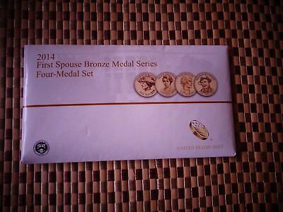 2014 First Spouse Bronze Medal Series Four-Medal Set - nice condition