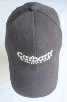 100569000d9 Carhartt Black Cap Hat One Size Fits All Adjustable Cotton