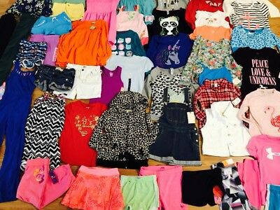 Huge 48pc Girl's Clothing Lot Size 7-8-10 Spring Summer  Justice Gymboree