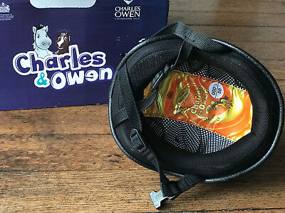 Small Childs Riding Hat Charles Owen Young Rider Skull Hat with Silk 50cm 0001/2