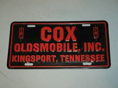 1980s COX OLDSMOBILE~KINGSPORT TENNESSEE, FRONT LICENSE PLATE
