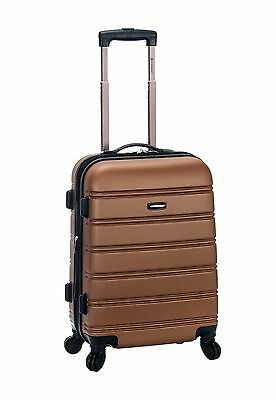 "Melbourne 20"" Expandable Carry On Hard Luggage ABS - Brown"