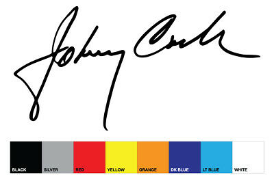 JOHNNY CASH style replica signature sticker
