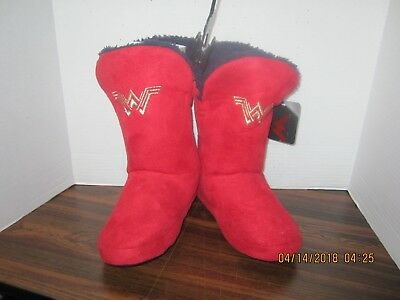 ddh100 WONDER WOMAN TODDLER GIRLS SLIPPER BOOTS SIZE LARGE 9-10 NEW