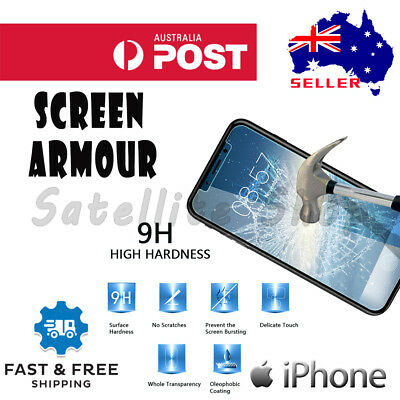 2 X Tempered Glass Screen Protector For Apple iPhone X XR XS MAX 8 7 6 Plus 6S 5