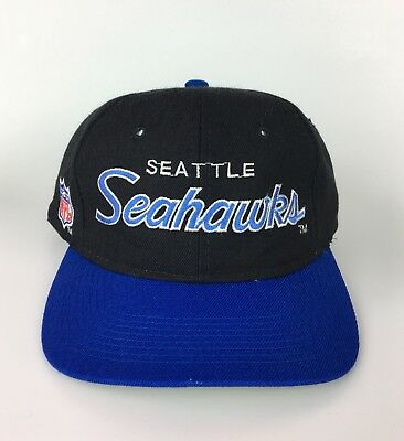 Seattle Seahawks Sports Specialties Script Vintage Snapback Hat NFL Rare  Youngan 2054b375a
