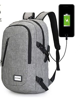 Fashion Quality Laptop USB Charging Backpack School Bag Pack Adult StudentBag1PC