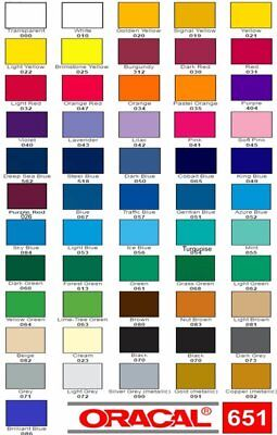 "10 Rolls - 12"" x 24"" each - Oracal 651 - Choose Colors - Craft Adhesive Vinyl"
