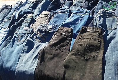 50 Pairs Blue Kids Jeans (Boys & Girls)Bulk Sale Many Brands Mixed Lots & Sizes