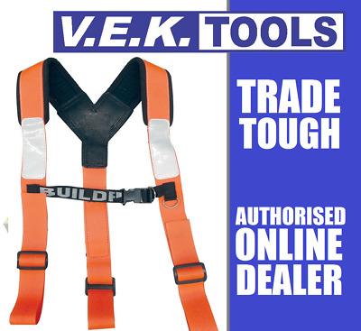 Buildpro Nail Bag Apron-Shoulder Brace Suspenders Harness-Fits Buckaroo Belts