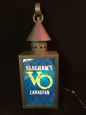 Vintage Seagram's Canadian VO Whiskey Lighted Sign Man Cave Bar Light 16 x 7