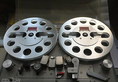 """ONE PAIR   New  7"""" Aluminum Anodized metal Reel to Reels   SILVE"""