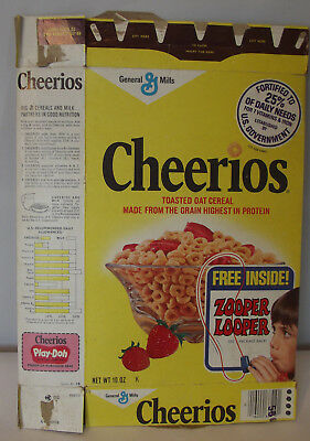 Vintage 1970's General Mills Cheerios Cereal Box Zooper Looper
