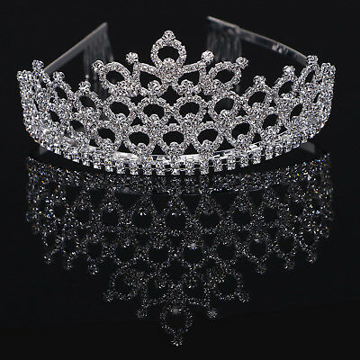 Bridal Princess Wedding Rhinestone Crystal Hair Tiara Crown Comb Veil Headband