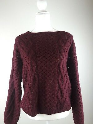 Urban Day Womens Burgandy Sweater S/M 11.99