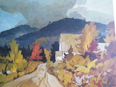 """A.j.casson Canadian S/N """"Country Church"""" Ltd Print Excellent Cond."""