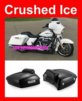 Crushed Ice Pearl Chopped Tour Pak For Harley Touring Street Electra Road 2014+