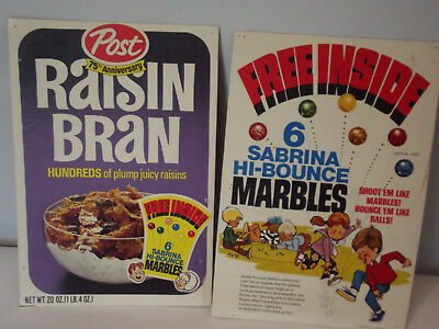 1970 Post Raisin Bran Archie Sabrina The Teenage Witch Front & Back Cereal Box