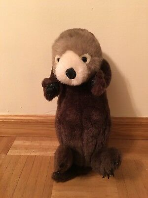 "17"" K & M RIVER OTTER Plush Stuffed K&M Realistic Stuffed Animal Toy"