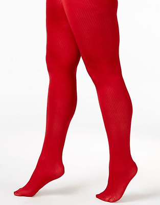 5bed43d406b3c Berkshire Plus Size Easy On Cooling Control Top Ribbed Textured Tights Red  1x-2x