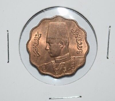 1943 EGYPT 10 MILLIEMES - Excellent Coin