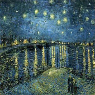 Wieco Art Starry Night Over The Rhone By Vincent Van Gogh Oil Paintings For Home