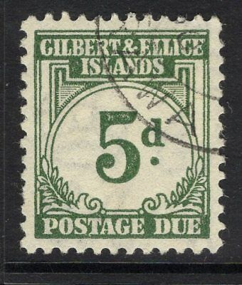 GILBERT & ELLICE IS. SGD5 1940 5d GREY-GREEN POSTAGE DUE FINE USED