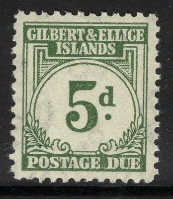GILBERT & ELLICE IS. SGD5 1940 5d GREY-GREEN POSTAGE DUE MNH
