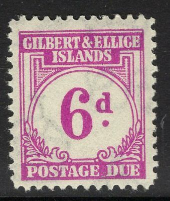 GILBERT & ELLICE IS. SGD6 1940 6d PURPLE POSTAGE DUE MNH