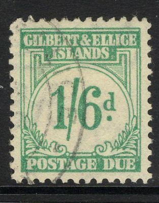 Gilbert & Ellice Is. Sgd8 1940 1/6 Turquoise-Green Postage Due Fine Used