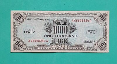 1000 Am Lire Bilingue Occupazione Americana In Italia Decr 1943  Bb/ Spl
