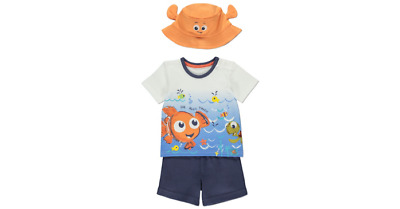 PRIMARK DISNEY PK 2 FINDING NEMO T-SHIRTS BNWT ALL AGES BOYS