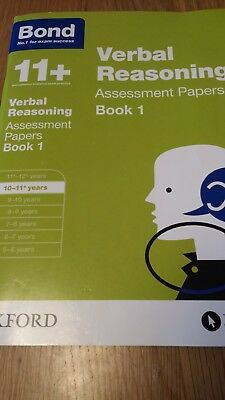 Bond 11+: Verbal Reasoning: Assessment Papers: 10-11+ years Book 1 by J. M. Bon…