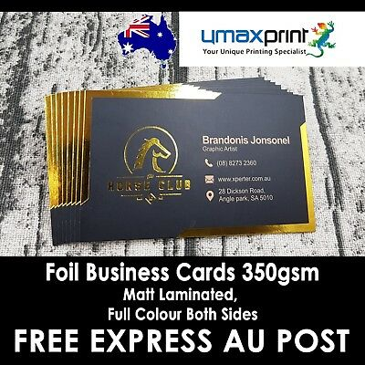 250x Foil Stamping Business Cards one side, Full Colour Both Sides