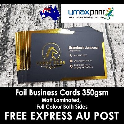 500x Foil Stamping Business Cards One Side, Full Colour Both Sides
