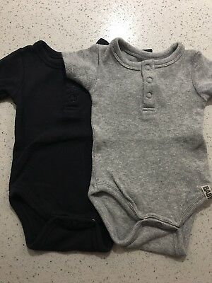 Baby Boys Cotton On Henley Rompers Sz 000 In EUC.