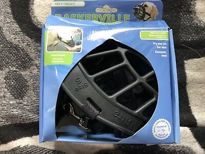 BASKERVILLE ULTRA DOG MUZZLE SAFETY COMFORT AND PROTECTION - Size 5