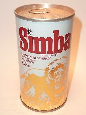 12oz Simba Carbonated Beverage Foil Label Test Can