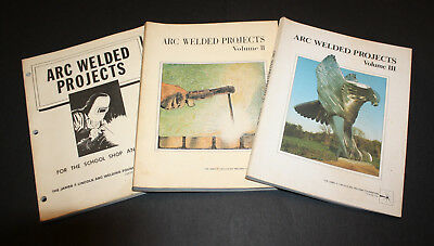 "3 Volumes Of ""arc Welded Projects"" - James F Lincoln Arc Welding Foundation"