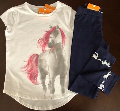 NWT Gymboree Girl Everyday Playwear Horse Tee & Leggings Outfit 5 6 7 8 10 12 14