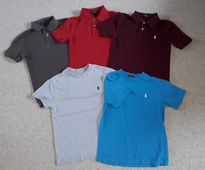 Bundle of boys Ralph Lauren t-shirts and polo shirts size Small age 8