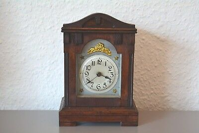 BADISCHE Antique mantle clock. Germany. Wooden case.